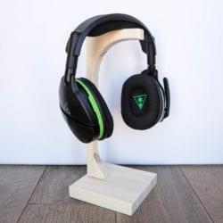 DIY wooden headset stand