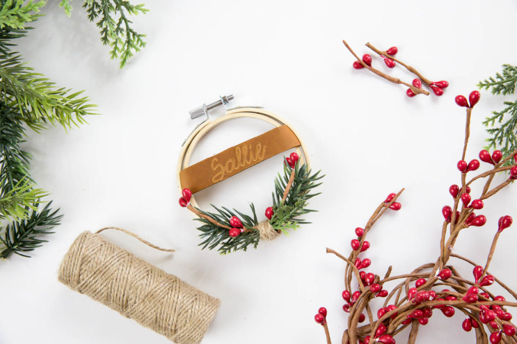 diy leather engraved gift tag