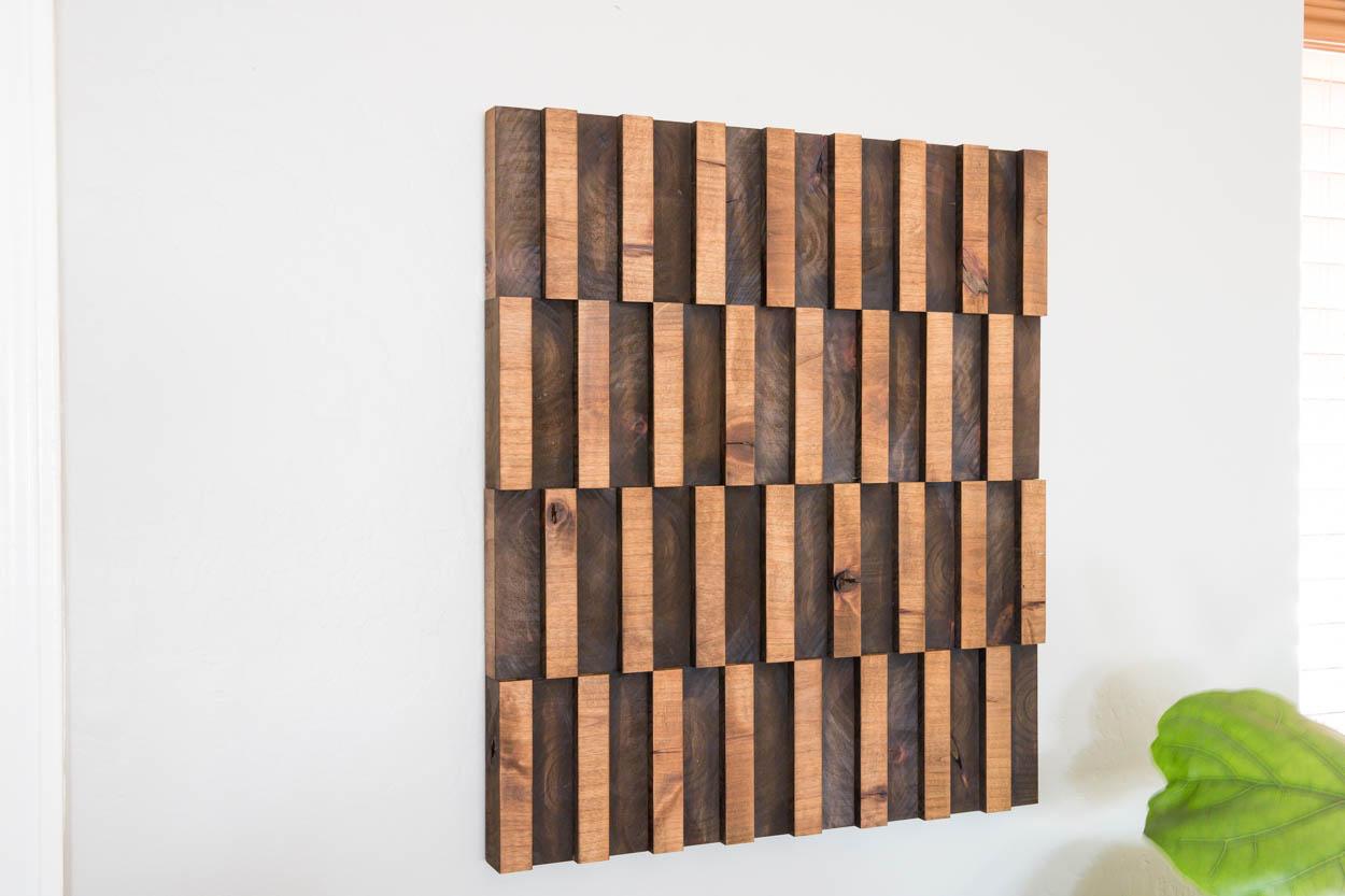 Abstract Wooden Wall Art Addicted 2 Diy