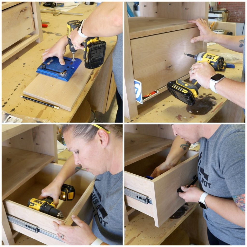 attaching a drawer front