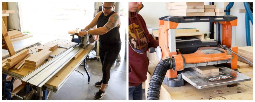 milling wood