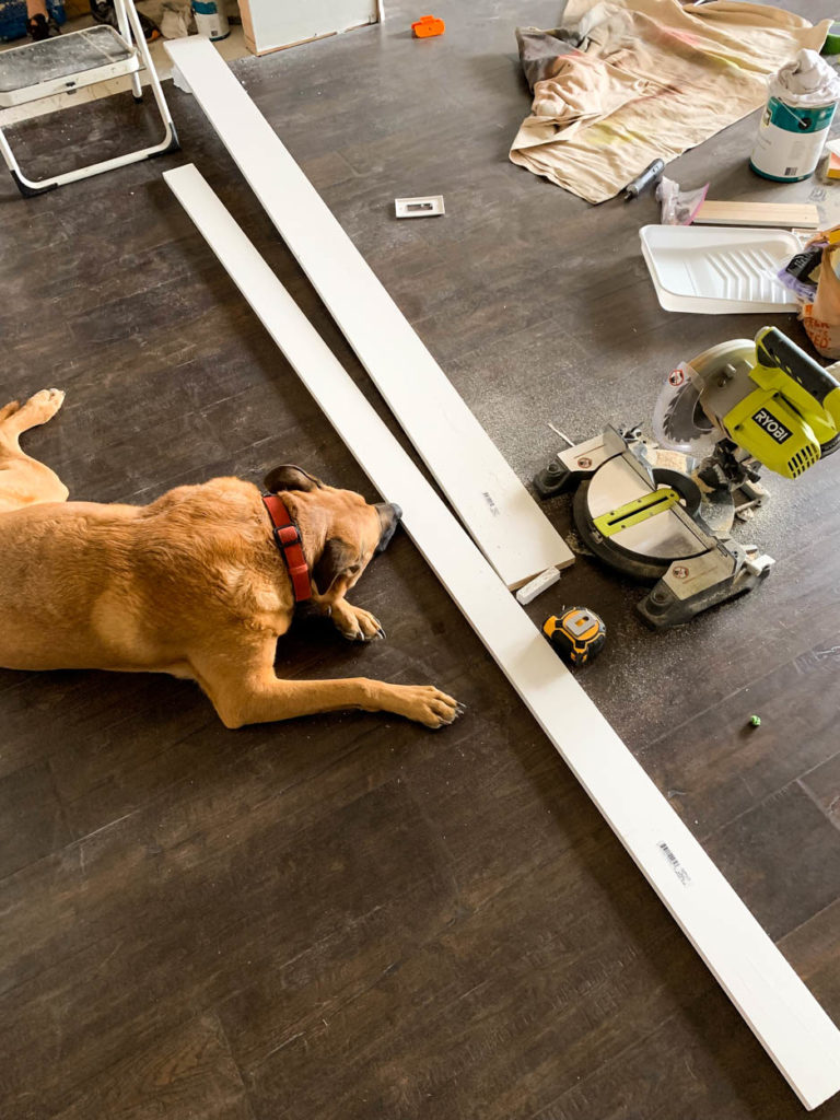 cutting trim for doorway