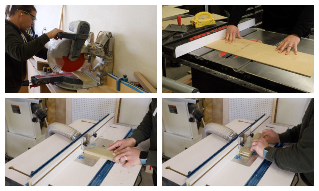 routing drawer front frames