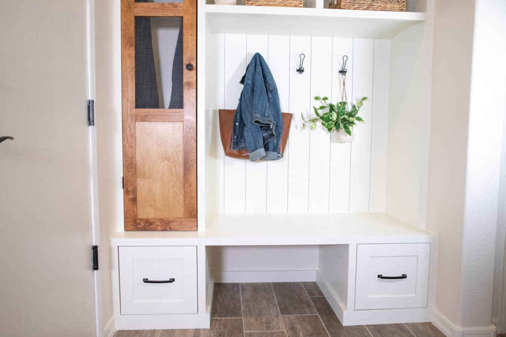 lower view of mudroom