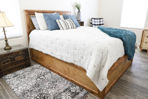 How To Build A Queen Size Storage Bed, Build A Queen Bed Frame With Storage